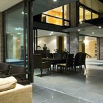 Modern Contemporary Exterior Sliding Doors-Modern Oversized Exterior Sliding Glass Patio Doors installed by modern-doors.ca