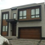 Modern Contemporary Fiberglass Garage Doors-Modern Garage Door in Newmaretl, Ontario by www.modern-doors.ca