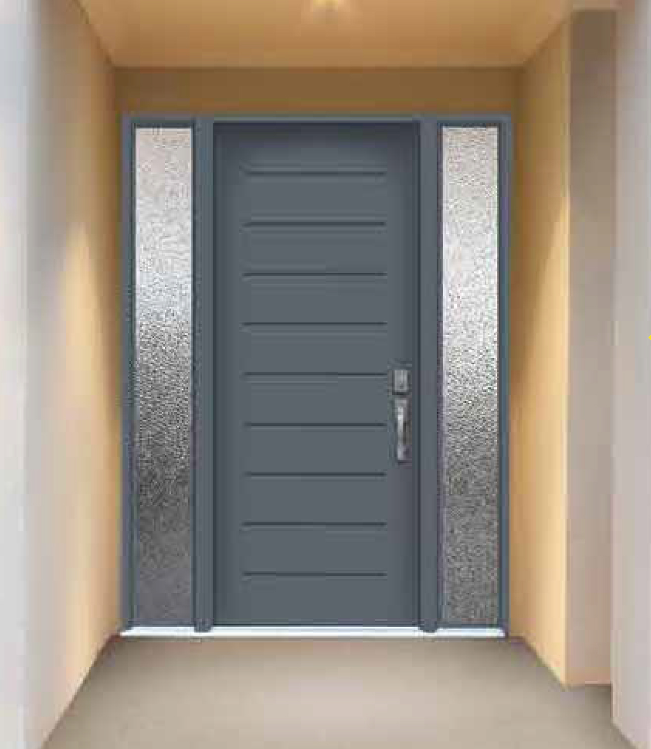 Door design collection frosted glass modern exterior front door