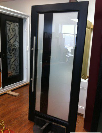 Modern contemporary front entry door fiberglass front for Contemporary house front doors