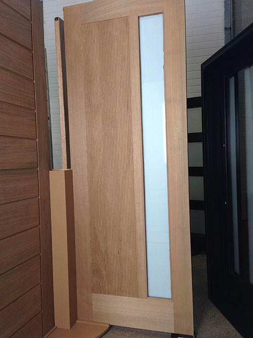 Modern contemporary front entry wood doors with glass by for Modern front entry doors