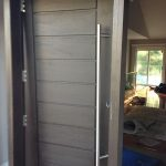 Modern Contemporary Front Fiberglass Door During Installation By modern-doors.ca in Maple, Ontario-Picture#MED151