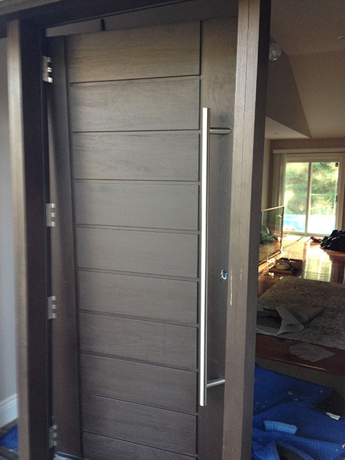 Modern Contemporary Front Fiberglass Door