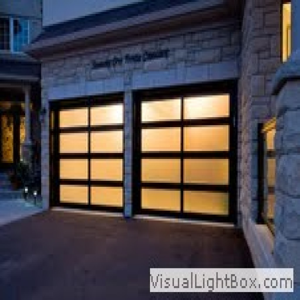 Aluminum And Glass Modern Garage Doors