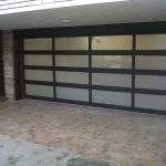 Modern Contemporary Garage Doors- Aluminum and Glass Modern Garage Doors, Frosted Glass Windows- Modern Garage Doors In Etobicoke, Ontario-by modern-doors.ca-Picture#629