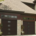 Modern Contemporary Garage Doors-Central Harmony Window layout Modern Garage Doors in Woodbridge, Ontario