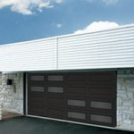 Modern Contemporary Garage Doors-Double Offset Window Layout Modern Garage Door in Oaville, Ontario by www.modern-doors