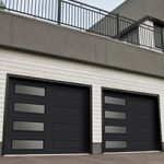 Modern Contemporary Garage Doors-Left-side Harmony Window Layout Modern Garage Doors in Richmond Hill, Ontario by www.modern-doors.ca