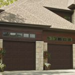 Modern Contemporary Garage Doors-Moka Brown Color Modern Garage Doors in Woodbridge, Ontario by www.modern-doors.ca
