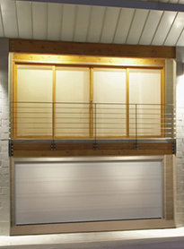 Modern Contemporary Garage Doors-Tex White Colour Modern Garage Door in Maple, Ontario by www.modern-doors.ca