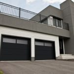 Modern Contemporary Garage Doors-Window 4th row section thermo enamelled black Modern Garage Doors in Richmond Hill, Ontario by www.modern-doors.ca-Picture#622