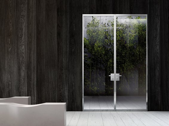 Modern contemporary clear glass interior doors - Contemporary glass doors interior ...