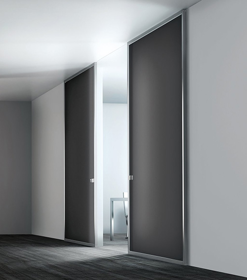 Fiberglass modern interior sliding doors Modern glass doors interior
