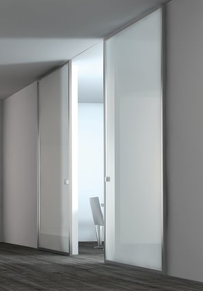 White glass modern interior sliding doors - Contemporary glass doors interior ...
