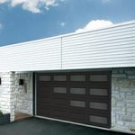 Modern Contemproray Garage Doors- Perspective Window layout Modern Garage Door in Oakville, Ontario by www.modern-doors