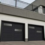 Modern Contemproray Garage Doors,Offset Window layout Modern Garage Doors in richmond Hill, Ontario-Picture#605