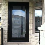 modern Contemporary Front fiberglass Entry Door, frosted-glass-design-front-door-installed-in-newmarket, Ontario by modern-doors.ca-Picture#MED153