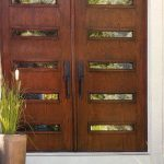 Modern Contemporary Doors with Horizontal Strip and Lites