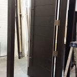 Front Entry Doors- Modern Front Entry Doors with Side Lites During Manufactring by modern-doors