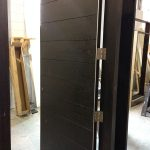 Front Entry Exterior Doors- Modern Rustic Front Entry Doors during Manufactring by modern-doors.ca