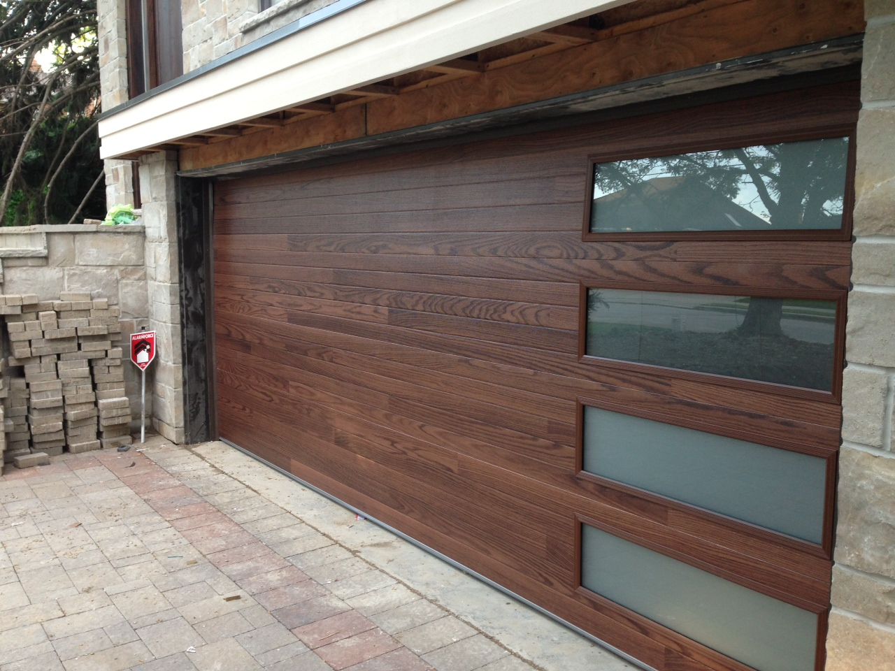 Modern contemporary garage doors custom modern for Garage windows for sale