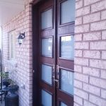 Custom Modern Double Front Entry Doors installed in Newmarket