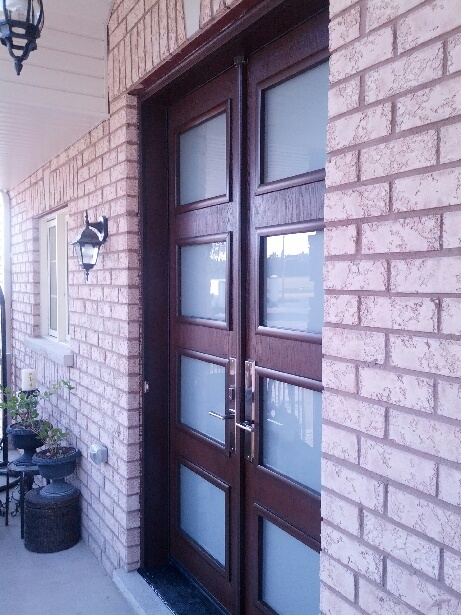 Fiberglass Doors Custom Modern Double Front Entry Doors