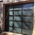 Contemporary Garage Doors- Modern Aluminium Garage Door with Door Lites installed in Oakville by modern-doors.ca