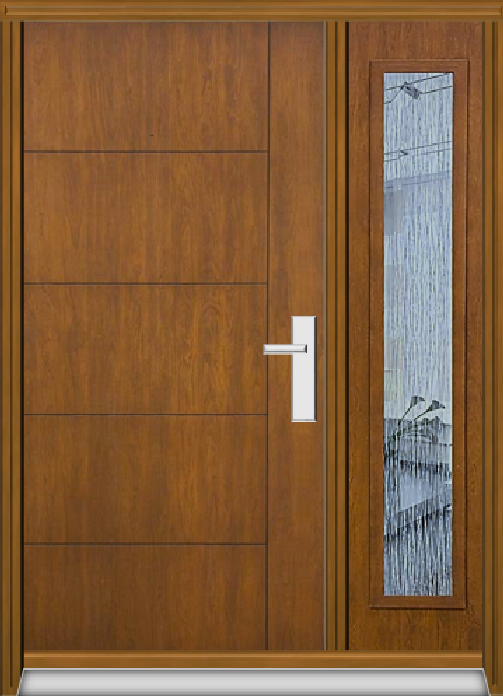Richerson Mastergrain Fiberglass Door With Side Lite