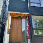 Modern Entry Front Door installed by Modern Doors in Modern Home in Richmond Hill