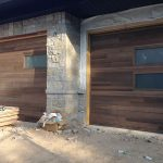 Modern Fiberglass Garage Doors with Door Lites installed by Modern Doors