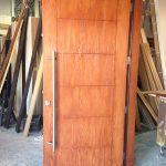 Fiberglass Woodgrain Modern Door-Cedar Modern Fiberglass Woodgrain Door Manufactured by Modern Doors