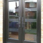 Modern FIberglass Lase cut Wrought Iron Design Doors manufactured by Modern Doors