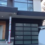 Aluminum Garage Doors-Aluminum Modern Garage door with frosted door lites manufactured and installed in Woodbridge by modern-doors