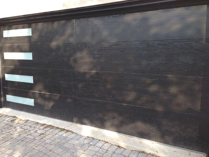 Fiberglass Modern Woodgrain Garage Doors Fiberglass