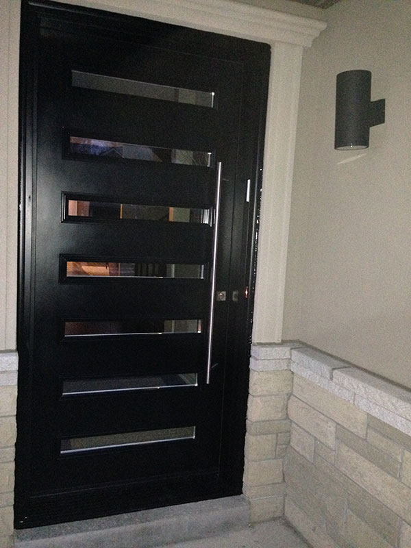 Modern Flush Glazed Fiberglass Doors With Clear Door Lites