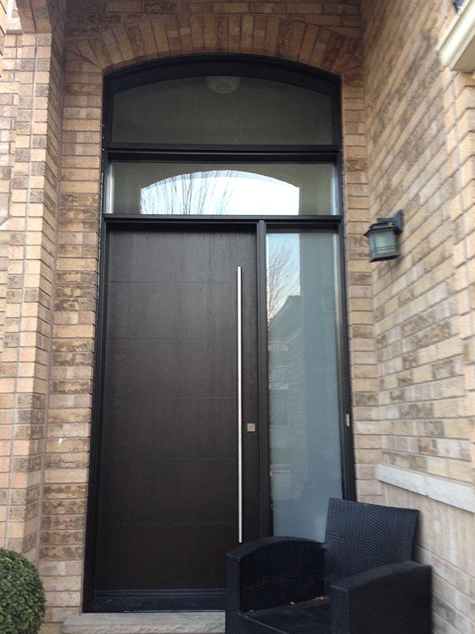Fiberglass Door Modern Rustic Woodgrain Fiberglass Door
