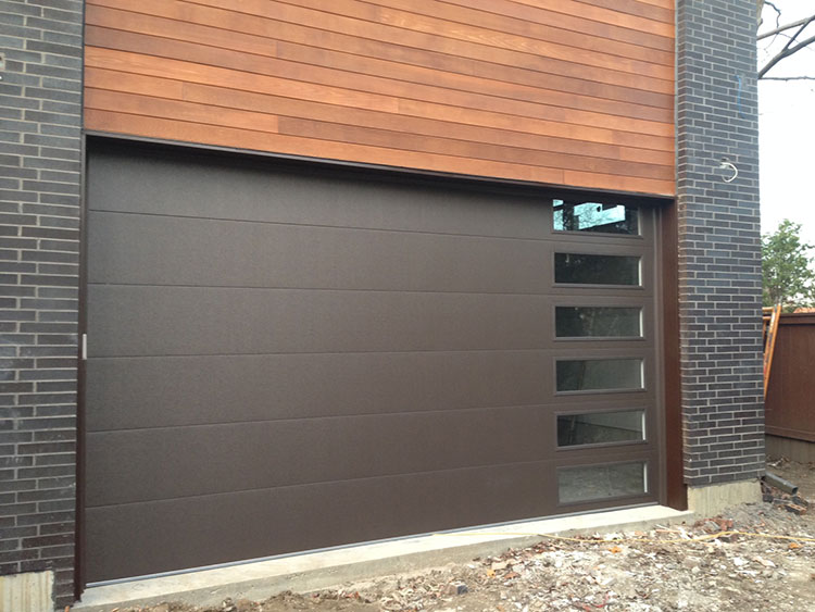 Fiberglass garage doors modern fiberglass garage doors installed in modern and luxury house in - Modern home luxury doors ...