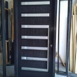 CUstom Modern Door- Custom Exterior Modern Door with 2 site Lites