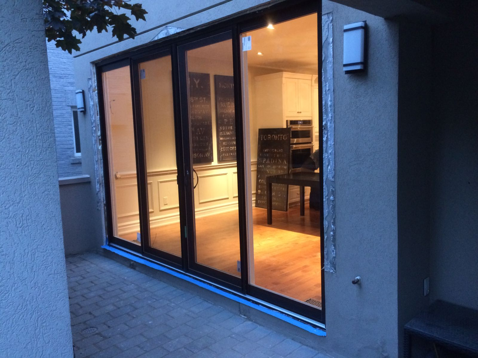 Oversized modern exterior sliding patio doors by modern for Sliding door front door