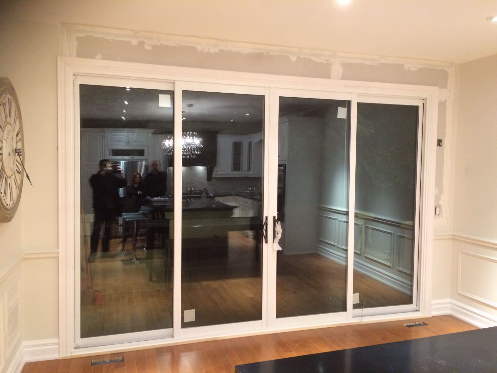 Modern exterior oversized sliding patio door by modern for Exterior sliding doors