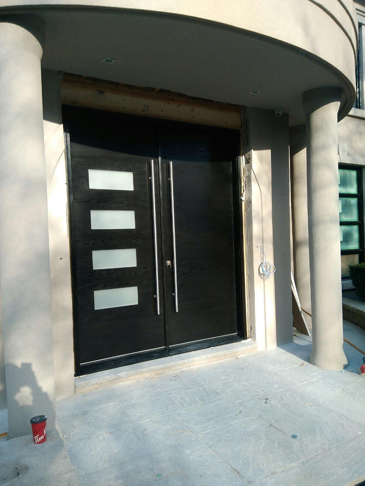 Oversized Modern Exterior Double Doors   By Modern Doors Toronto