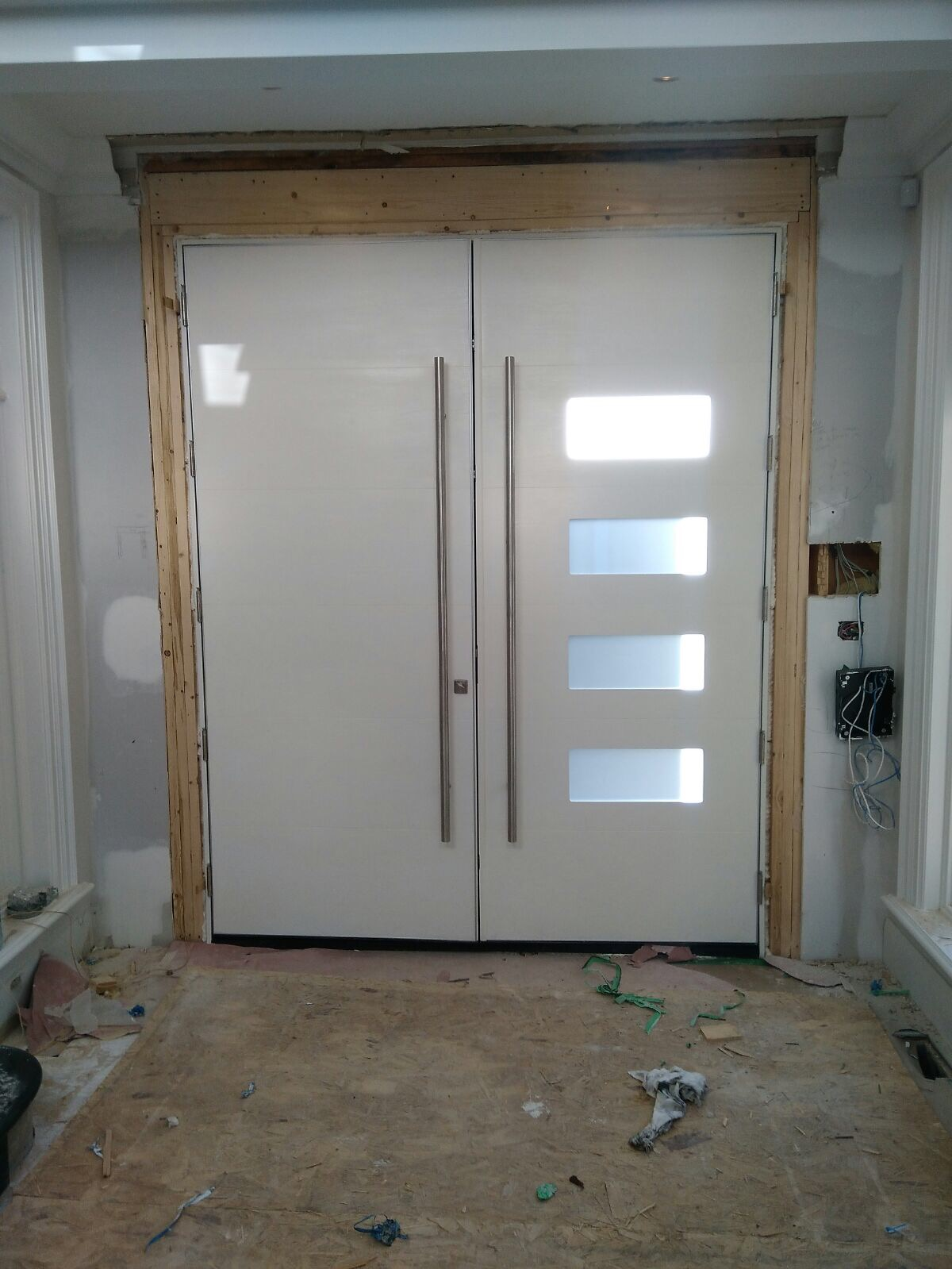 Oversized modern exterior double doors by modern doors for Oversized front door