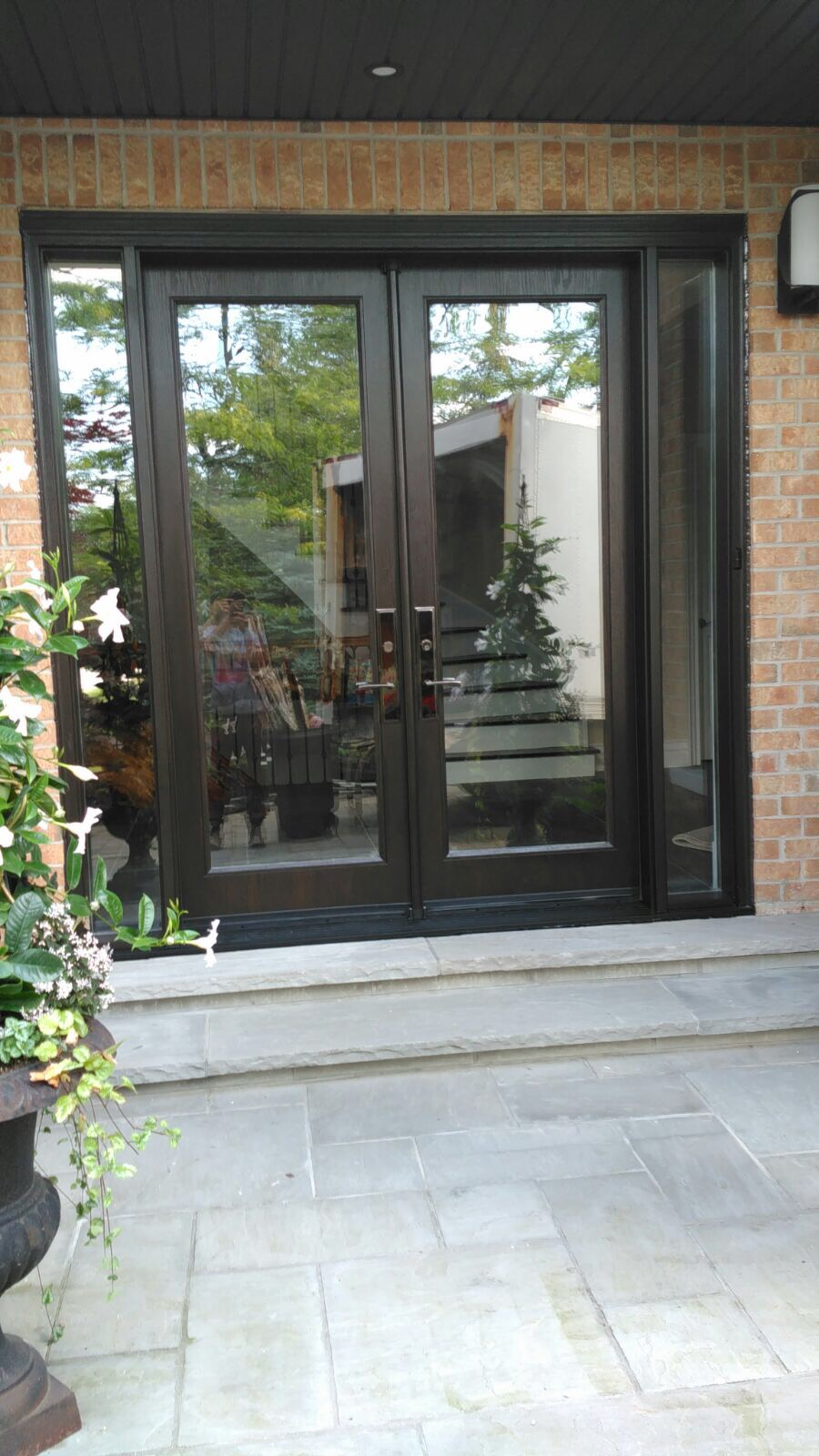 Modern Exterior Doors | Clear Glass