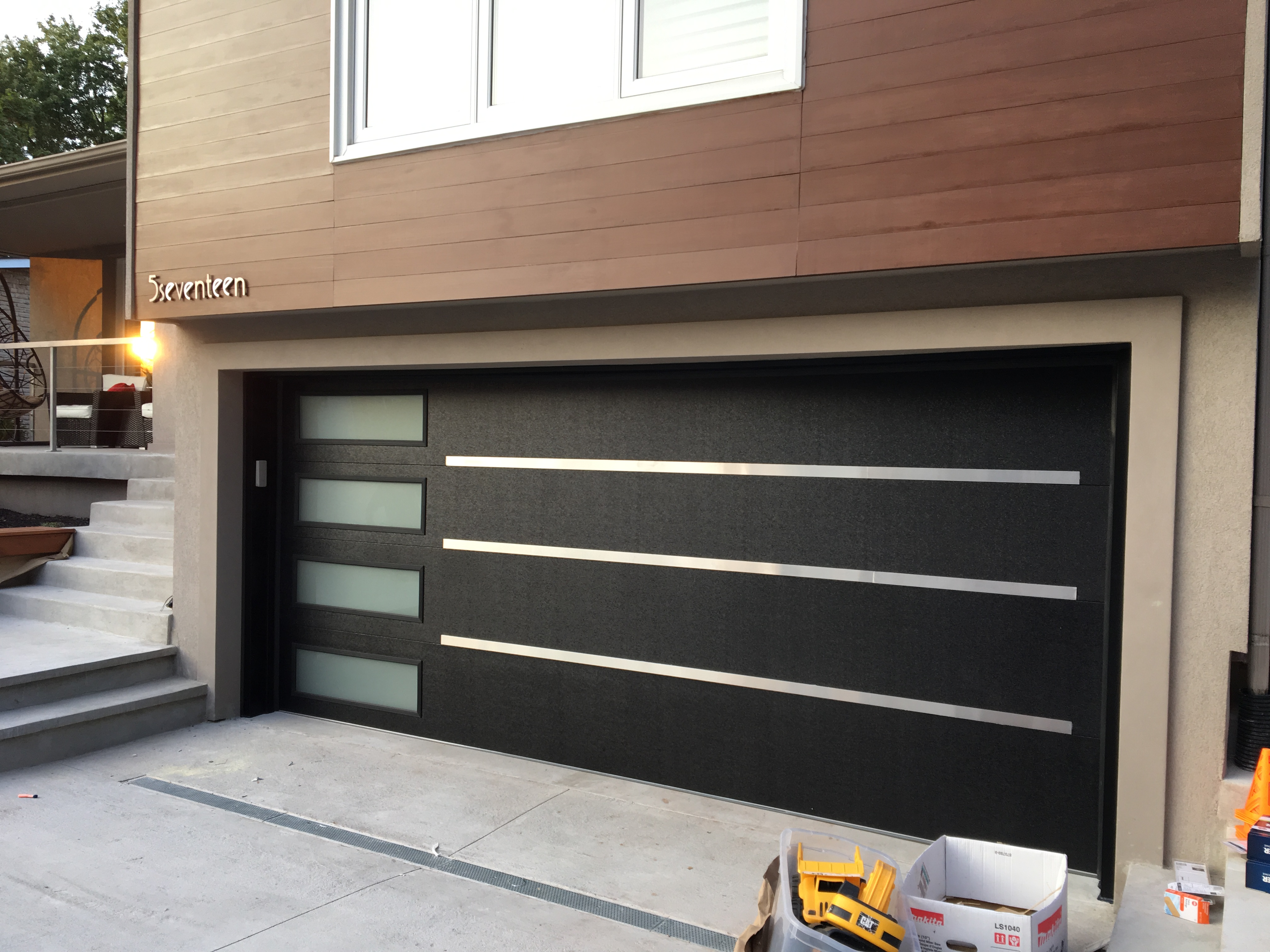 Modern garage doors archives modern doors for 2 door garage door