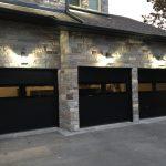 Modern Black Exterior Glass Garage Door