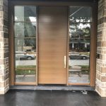 Modern Exterior Single Door Double Side Light