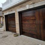 Modern Wood Grain Panel Garage Door