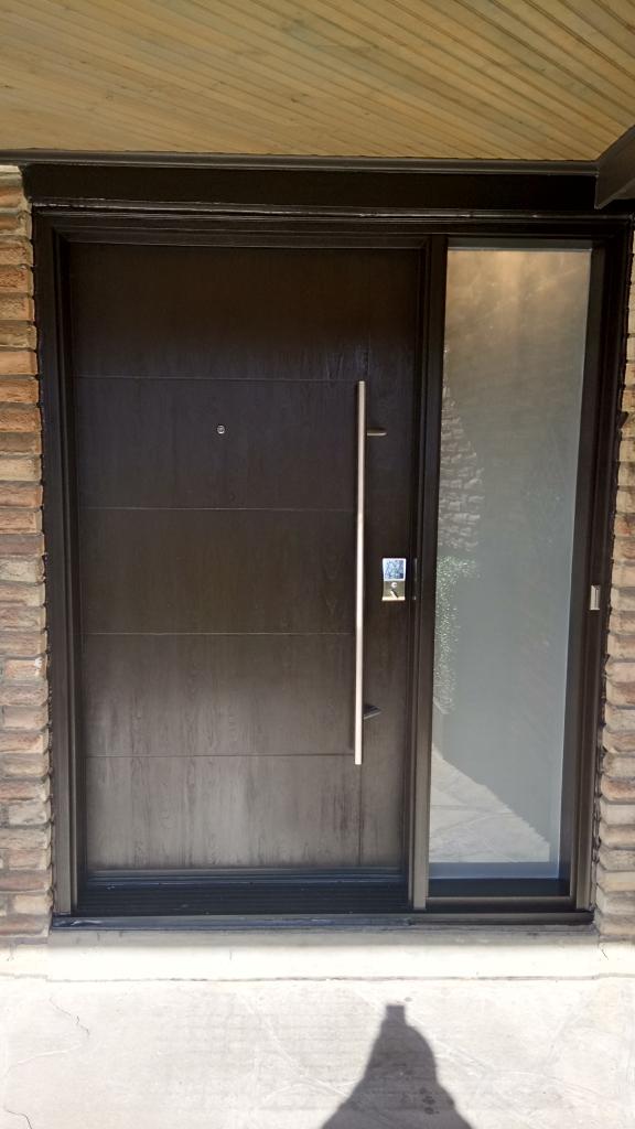 Modern Exterior Fiberglass Door Stainless Steele Bar Modern Doors
