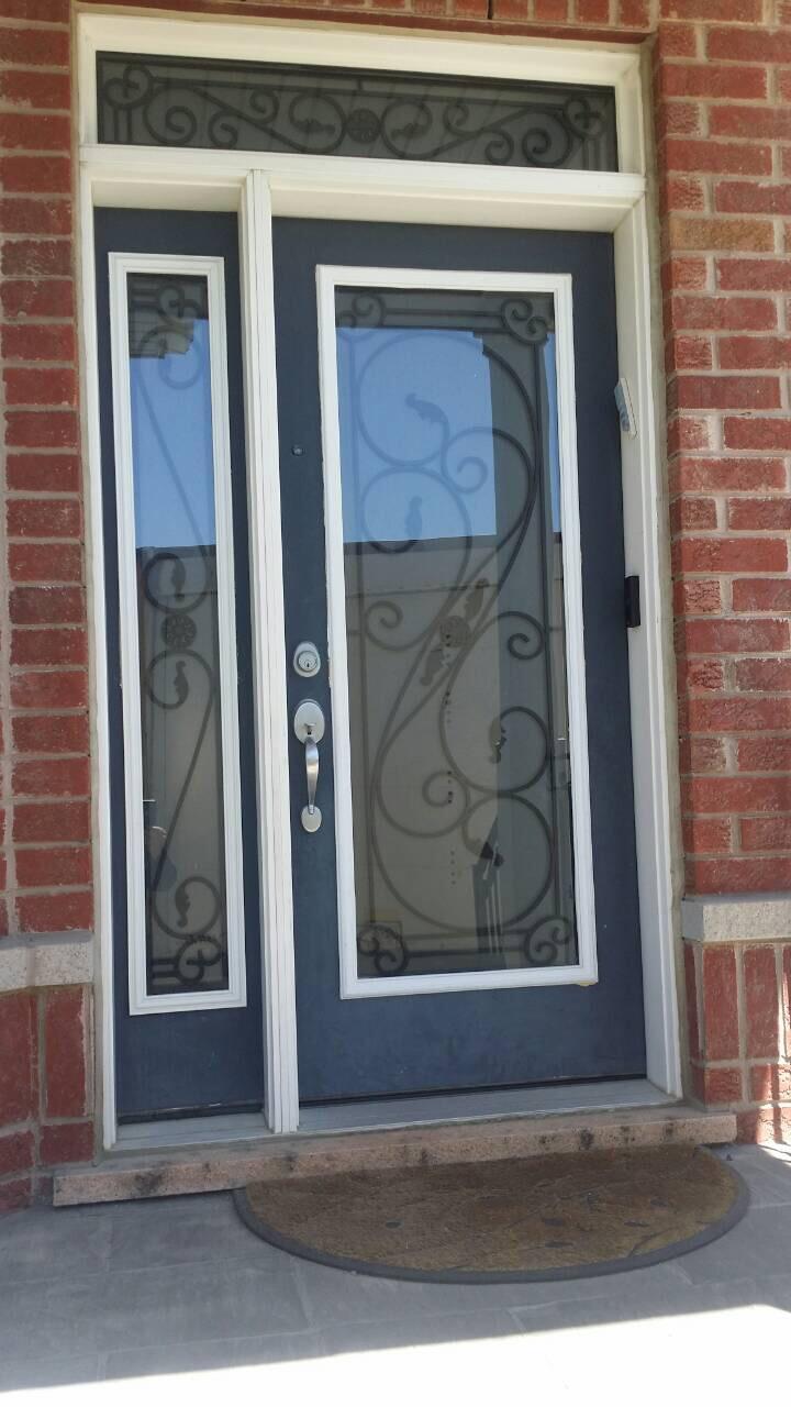Modern Fibre Glass Door Clear Panel Glass Modern Doors